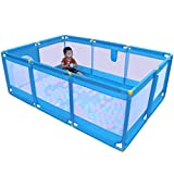 DF Laufstall Kindersplitterresistenter Sicherheits-Indoor-Kleinkind, der blauen Zaun kriecht (größe : Cushion+200 Goals)