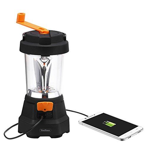 VonHaus 4 in1 Dynamo 3 LED-Strahler 10 LED Lampe Taschenlampe – Zelten / Camping / Notlicht