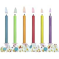 """6 Velas de Cumpleaños """"Llama Multicolor"""""""