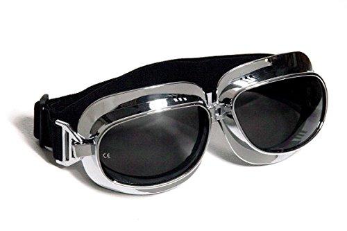 Motorradbrille Classic, Smoke-getönte Gläsern
