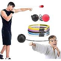 favourall 2Cajas Balón de Entrenamiento, Reflex Fight Ball, Speed Fitness Punch Boxing Ball con Diadema, Entrenamiento Dispositivo Speed Ball para Boxeo Casa y Exterior