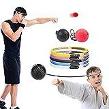 AITOCO Réflexion de Balle de Boxe, 2 Niveaux Combattez Le Sac de Vitesse de Balle Réflexion;Exercice de poinçon de Formateur sur la Ficelle avec Le Bandeau pour MMA Gymnase Adulte/Enfants, Boxe, MMA