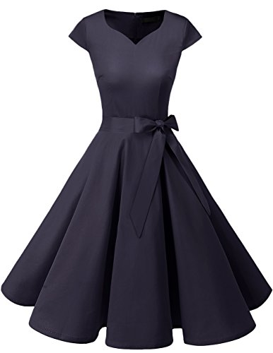 Dresstells Vintage 50er Swing Party kleider Cap Sleeves Rockabilly Retro Hepburn Cocktailkleider...