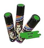 Color Spray Haarspray Farbe: Grün Inhalt: 100ml Haarspray für Fasching Karneval für bunte Haare.