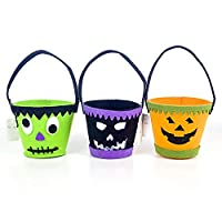 XINGXIAOYU Halloween Candle Decoration,3 Pieces Of Halloween Funny Storage Bucket, Ghost Children