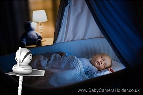 Motorola MBP853 with Baby Camera Holder (White) - The Universal Baby Monitor Shelf Holder