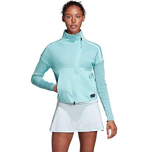 adidas Damen Parley Z.N.E. Full Zip Hooded Trainingsanzug Jacke Blue Spirit/Petrol Night m
