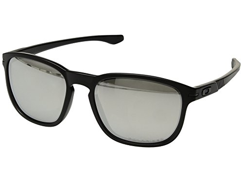 Oakley Men's Enduro Matte Black Ink/Chrome Iridium Polarized One Size