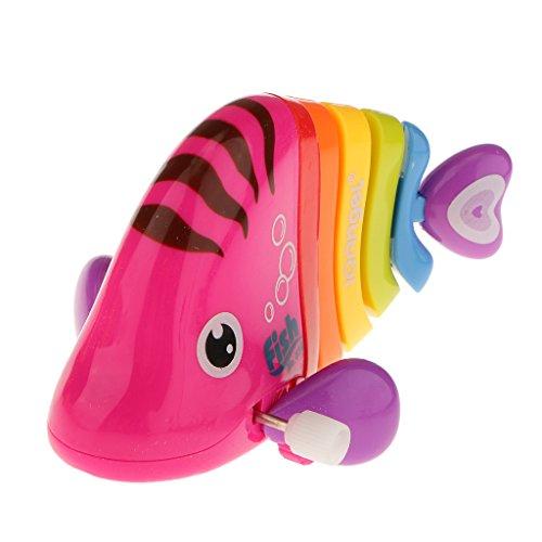 MagiDeal Bunte Schaukel Fisch Mechanisches Baby Badewannenspielzeug Wasserspielzeug