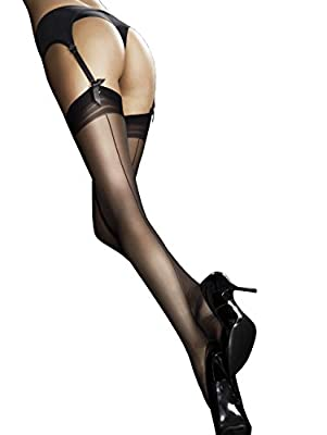 Fiore Women's Marlena / Obsession Suspender Stockings, 20 Den, Tan/Braun