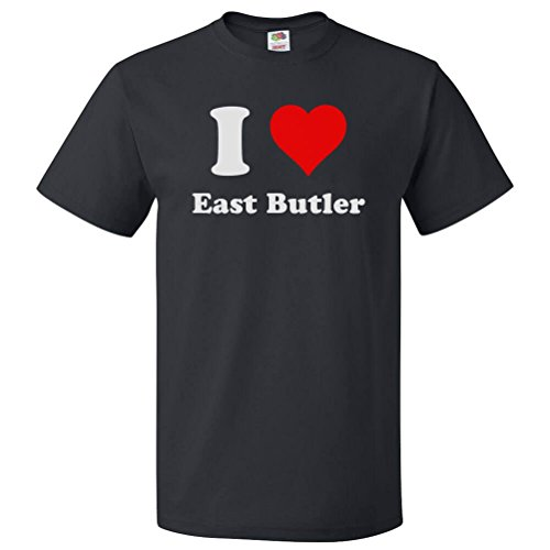 ShirtScope I Heart East Butler PA T shirt I Love East Butler PA Tee (Butler-shirt Herren Black Für)