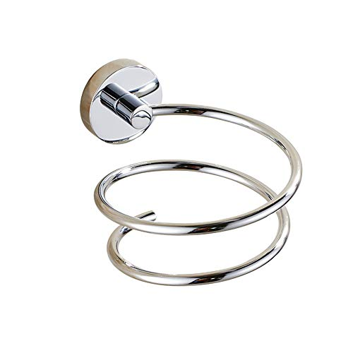 L&HM Haartrocknerhalter/Fönhalter robustem 304 Edelstahl Chrom, Spirale Form-langlebig Badzubehör/zur Wandmontage