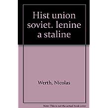 Histoire de l'Union soviétique de Lénine à Staline