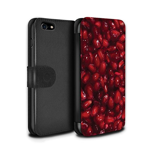 Stuff4 Coque/Etui/Housse Cuir PU Case/Cover pour Apple iPhone 7 / Citron Design / Fruits Juteux Collection Grenade