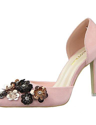 WSS 2016 Chaussures Femme-Habillé-Noir / Rose / Rouge / Gris / Bordeaux / Kaki-Talon Aiguille-Talons / Bout Fermé / Bout Pointu-Talons-Daim gray-us7.5 / eu38 / uk5.5 / cn38