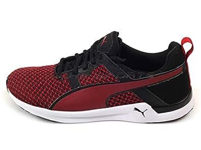Puma Men's Pulse XT Knit Black and Scooter Mesh Running Shoes - 10UK/India (44.5EU)