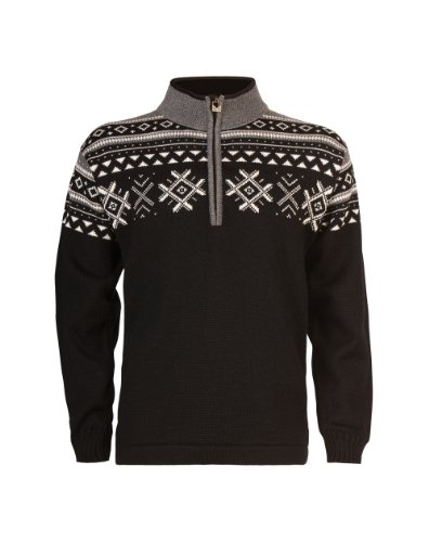 Dale of Norway Erwachsene Pullover Dovre Smoke/Off White/Black