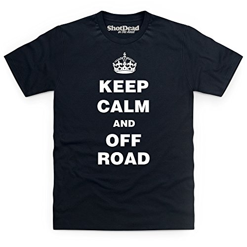Keep Calm And Off Road T-Shirt, Herren Schwarz