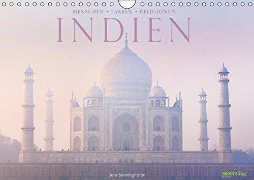 Indien: Menschen Farben Religionen (Wandkalender 2019 DIN A4 quer): 12 farbenprächtige Bilder aus Indien (Monatskalender, 14 Seiten ) (CALVENDO Orte)