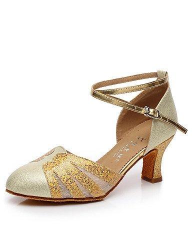 ShangYi Anpassbar - Maßgefertigter Absatz - Satin - Modern - Damen Gold