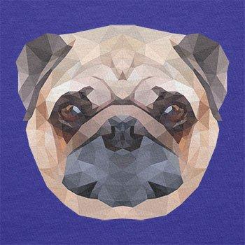Texlab–Poly Pug Face–sacchetto di stoffa Marine