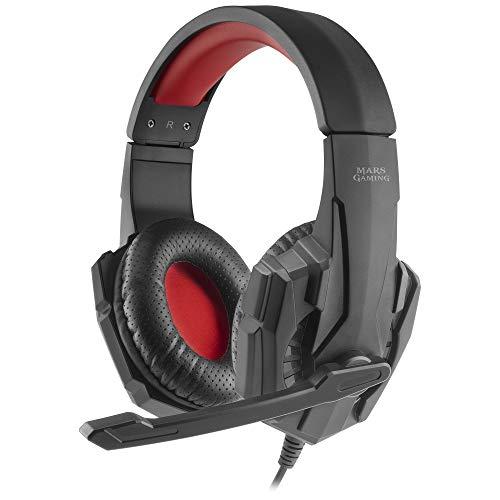 Oferta de Mars Gaming MH020, Cascos Gaming con Micrófono Plegable, PS4/PS5/XBOX/SWITCH/PC
