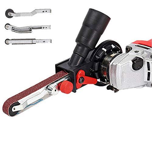 Lukcase Schleifband-Adapter für 11,4 cm/12,7 cm Elektro-Winkelschleifer mit M14-Gewinde Spindel in Schleifmaschine