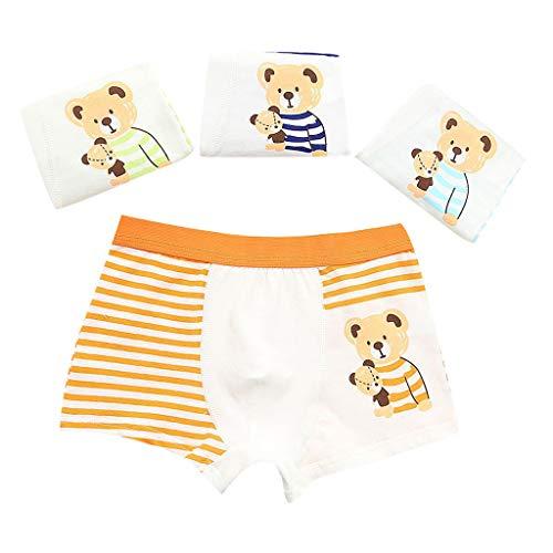 bobo4818 4 Stücke Baby Jungen Kinder Hunde Cartoon Unterwäsche Kinder Unterhose Kurze Hosen für 2-10 Jahre