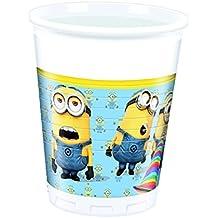 Procos 87177–Vasos de plástico Minions, 200ml, 8unidades, amarillo/azul