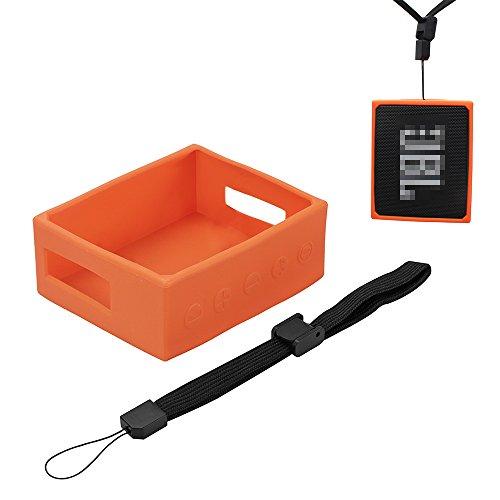 Galopar Travel Carry bolsa de manga portátil de protección de la caja cubierta de la cubierta del bolso para JBL GO Portable Wireless Bluetooth Speaker(Orange)