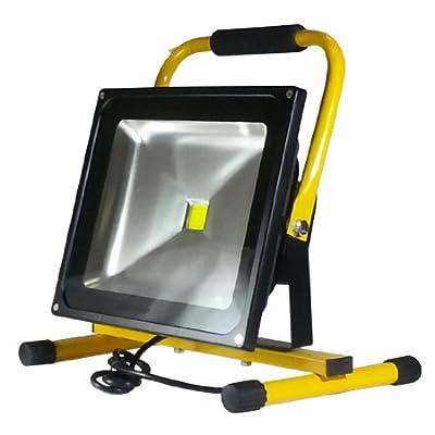 V-TAC LED Fluter Baustrahler Scheinwerfer Strahler 50 Watt mit Ständer IP65 6000K Weiß von V-TAC - Lampenhans.de