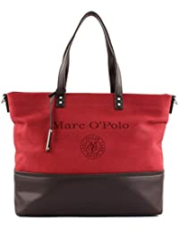 d6ae1fb78c21a Marc O Polo Damen Shopper TWO TONE Abnehmbarer Schulterriemen red brown one  size