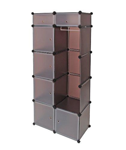 ts-ideen-plug-in-shelf-stacking-rack-shelves-chest-cabinet-closet-cupboard-transparent-brown