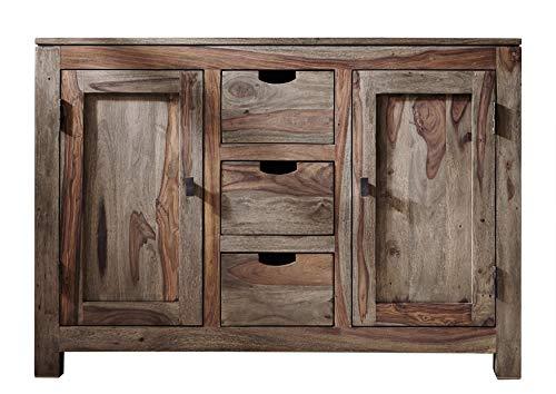 MASSIVMOEBEL24.DE Palisander massiv Holz Sideboard Sheesham Möbel Nature Grey #83