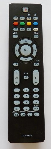 Replacement Remote Control For Use With Philips TV Television Models: 26PF5521D 32PF5531D 32PF7611D 37PF5521D 37PF7531D 42PF7521D 42PF7621D 42PF5521D 32PF5521D 32PF7521D 37PF7521D 32PFL7862D