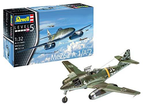 Revell 03875 Messerschmitt Me262 A-1/A-2 Schwalbe originalgetreuer Modellbausatz für Experten, Flugzeug, 1:32/33,6cm, 1/32 (Flugzeug Kit Modell Paint)