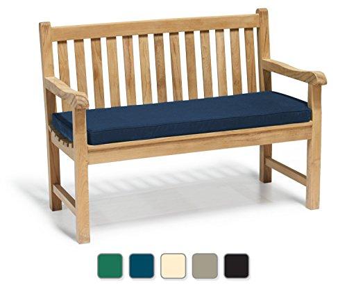 York Garden Bench A Grade Teak 1,2m (122cm) Outdoor Bench mit blauem Kissen–Jati, Qualität & Wert