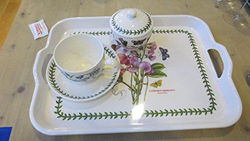 Portmeirion set colazione botanic garden vassoio-melanina zuccheriera e 6tazze colazioni 0,26lt