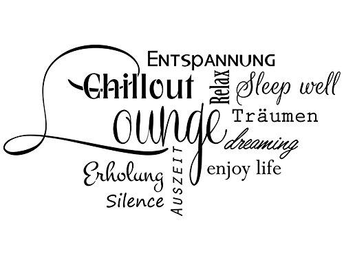 Wandtattoo-bilder Wandtattoo Wortwolke Chillout Lounge Nr 3 Wandsticker Wohnzimmer Erholung Relaxen...