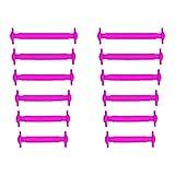 Slaces rippled • PINK • Gerippte Oberfläche • Unisex Slip-On Silikon-Schnürsenkel