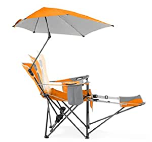 Outdoor Living Folding Recliner Chair With Footrest And