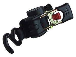 Spanngurt ZurrMatic mit Aufrollautomatik und S-Haken 25 mm breit, 1,8 m lang, 600 daN - einteilig - schwarz