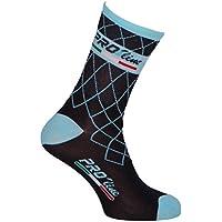 Proline Team Calcetines de ciclismo celeste y blanco Calcetines de ciclismo 1 par Talla única