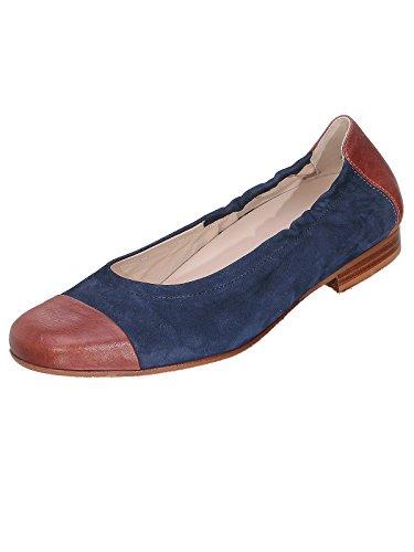 Semler  Denise5288, Ballerines femme Blau/Cognac