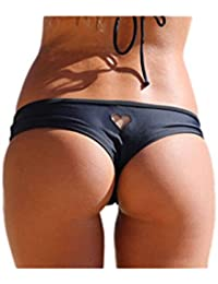 YACUN Femme Est Coeur Arraché Maillot de Bain String Cheeky Bikini Bottom sexy