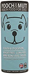 Health & Digestion , Pack of 6 : Pooch and Mutt Health and Digestion Mini-Bone Dog Treats, 125 g, Pack of 6