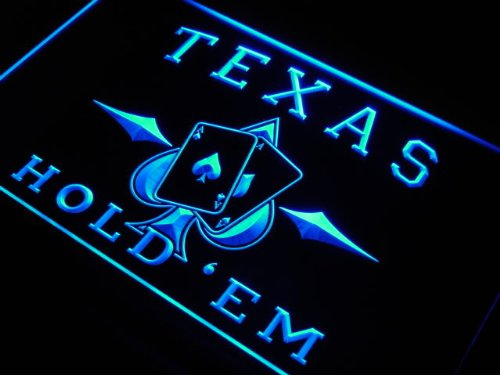 Enseigne Lumineuse s217-b Texas Hold'em Poker Casino Neon Light Sign