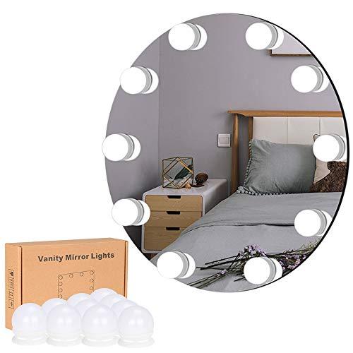 Lirex Luces de Espejo de Tocador, Hollywood Espejo de Maquillaje con 10 Bombillas LED, 10 Modos de Brillo...