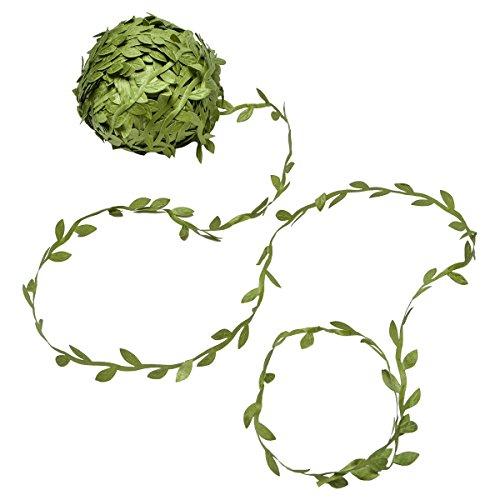 Yolido 75 Meters Blätter Deko Künstliche Pflanze Girlande Blattband Grün Hanwerk Reben Band für Vintage Hochzeit Weihnachten Party Dekoration (Weihnachten Party Dekoration)