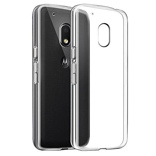 Preisvergleich Produktbild Moto G4 play Hülle, Ubegood Moto G4 play Bumper Case Handyhülle TPU Case Crystal Soft Silikon Cover Schutzhülle für Lenovo Moto G4 play - Transparent